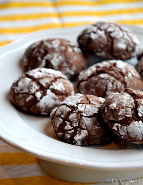 Chocolate Crackle Cookies - Mirch Masala — Mirch Masala