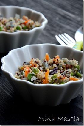 Quinoa Vegetable Upma Quinoa Stir Fry with Vegetables and coconut (2)