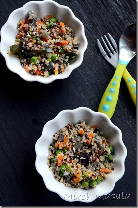 Quinoa Vegetable Upma Quinoa Stir Fry with Vegetables and coconut (3)