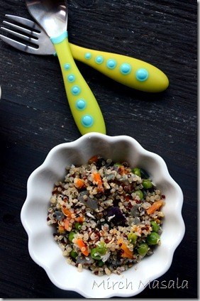 Quinoa Vegetable Upma Quinoa Stir Fry with Vegetables and coconut (4)