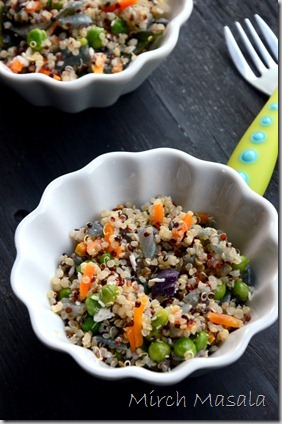Quinoa Vegetable Upma Quinoa Stir Fry with Vegetables and coconut
