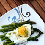 Fried Eggs Over Roasted Asparagus and Green Garlic Herb Butter  Spring Brunch Recipe (5)