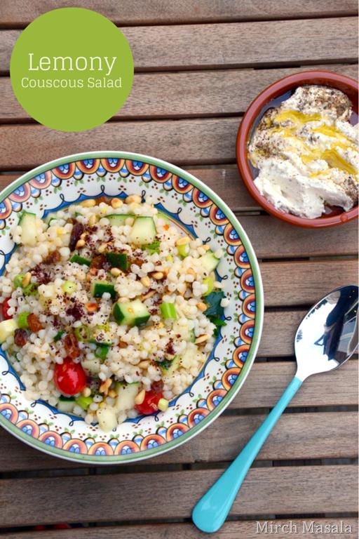 Lemony Couscous Salad — Mirch Masala