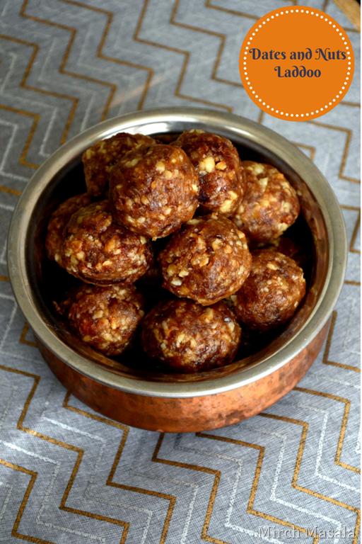 Dates and Nuts Laddoo - Diwali recipe - Mirch Masala