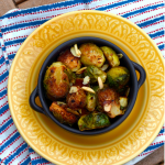 Roasted Brussels Sprouts with Almonds - Thanksgiving Side - Vegetarian, Vegan -  Mirch Masala