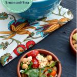 Harissa Marinated Chickpea Salad with Lemon and Feta - Mirch Masala - Vegetarian Salad Recipe