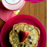 Chocolate Chip Almond Pancakes for valentine