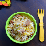 Sausage and Egg Fried Rice - Toddler Kid Friendly Food - #mirchmasalalittlepeoplefood - Mirch Masala