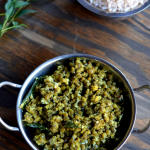 Cherupayar Thoran - Green Mung Saute with Coconut - Kerala Recipe Indian Recipe Vegetarian Vegan - Mirch Masala
